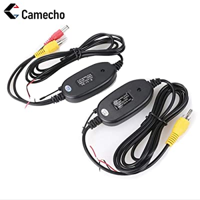 Camecho NEW 2.4G Wireless Color Video Transmitter and Receiver for The Vehicle Backup Camera Front Car Camera: Car Electronics