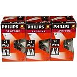 Philips spotone lot de 3 ampoules à incandescence réflecteur r50 e14 25 w