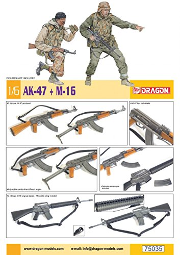 Dragon Models 1/6 AK-47 vs M16 Gun (2 each)