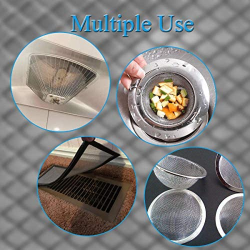 "4PACK Stainless Steel Woven Wire Mesh Never Rust, Air Vent Mesh 11.8""X8.2""(300X 210mm), Hard and Heat Resisting Screen Mesh, 1mm Hole 20 Mesh Easy to Cut by means of Valchoose"