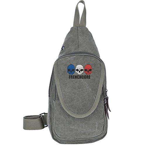 renchcore Skulls Crossbody Chest Bag Canvas Travel Backpack Men & Women Shoulder (William Joseph Fly Vest)