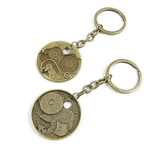 10 Pieces Fashion Jewelry Keyring Keychain Door Car Key Tag Ring Chain Supplier Supply Wholesale Bulk Lots C4KS1 Watch Gear Cog Steampunk from 4044 Charms