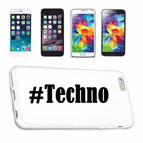Handyhülle iPhone 6 Hashtag ... #Techno ... im Social Network Design Hardcase Schutzhülle Handycover Smart Cover für Apple iPhone … in Weiß … Schlank und schön, das ist unser HardCase. Das Case wird m