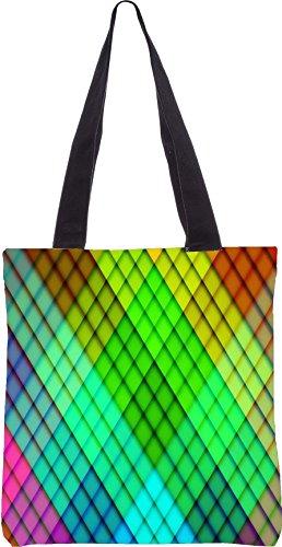 Snoogg Arcobaleno Modello Diamante Fatto 2689 13,5 X 15 Pollici-acquisto-utility-bag In Tela Di Poliestere