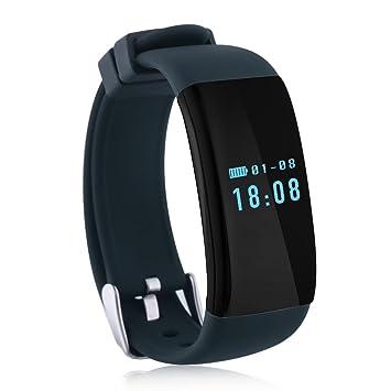Diggro DFit - Impermeable Ajustable Smartwatch Reloj de Pulsera Android IOS (Pantalla OLED, Ritmo