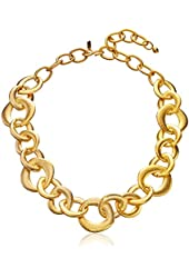 Kenneth Jay Lane Satin Gold Chain Link Necklace, 22""