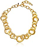 Kenneth Jay Lane Satin Gold Chain Link Necklace, 22'
