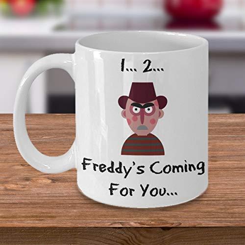 Freddy movie mug coffee mug horror funny halloween samhain classic cult ghost scary character ()