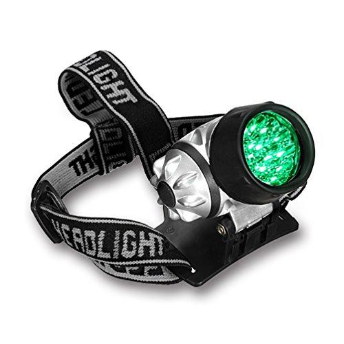 Grow Room Headlight 19-bulb High Intensity LED Green Light Gardening Headlamp for Grow - Grow Room Lighting