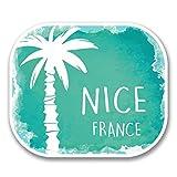 2 x 30cm/300mm Nice France Vinyl SELF ADHESIVE STICKER Decal Laptop Travel Luggage Car iPad Sign Fun #6331