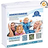 Waterproof Mattress Protector - Premium Mattress Protector 100% Waterproof Breathable Bed Topper Pad Terry Cloth Cotton Cover Shield Lab Test Allergy Anti-Mite Vinyl-Free, Full