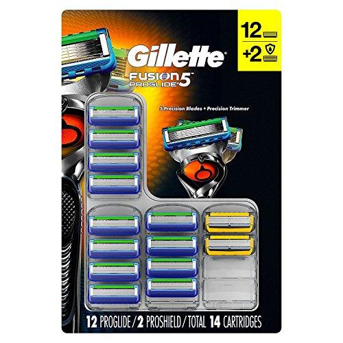 Price comparison product image Gillette Fusion5 Proglide Cartridges, 12 Proglide & 2 Proshield (14 ct.)