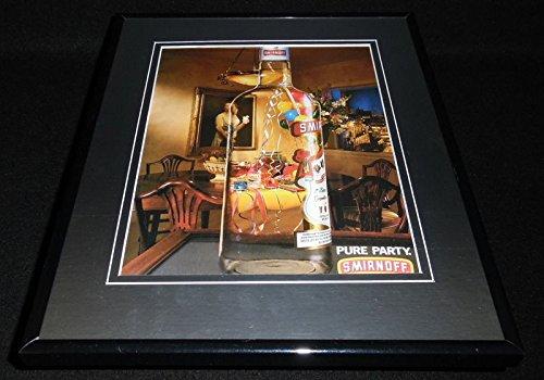 (1994 Smirnoff Vodka Pure Party Framed 11x14 ORIGINAL Vintage Advertisement)