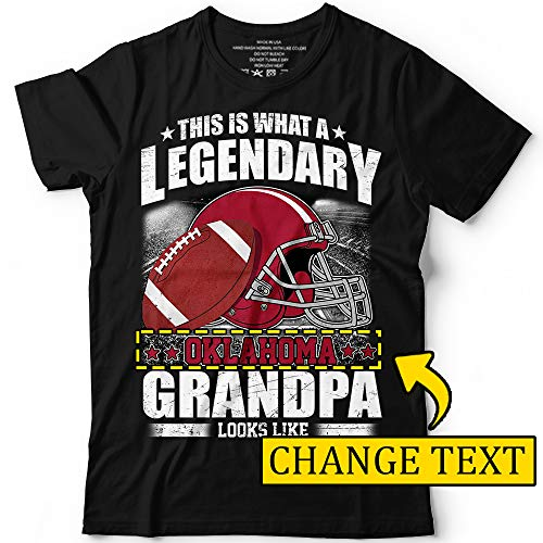 - Football Team This is A Legendary Oklahoma Customized Grandpa T-Shirt