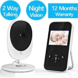 Video Baby Monitor, 2.4Ghz Wireless Digital Camera with Infrared Night Vision, 2-Way Talk Back, Temperature Sensor, Night Light, LCD Display, Lullabies