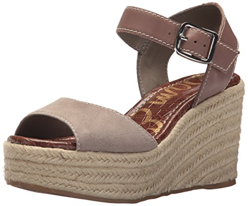 (Sam Edelman Women's Dimitree Espadrille Wedge Sandal, Dark Putty, 9 M US)