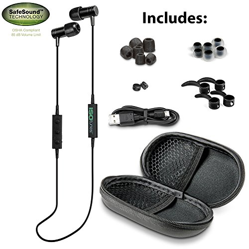 isotunes noise isolating bluetooth earbuds 26 db noise reduction rating 4 h. Black Bedroom Furniture Sets. Home Design Ideas