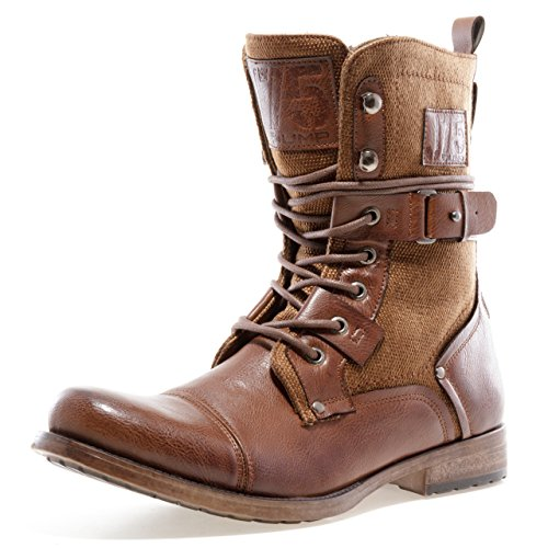 [J75 by Jump Men's Defense Military Boot Tan 12 D US] (Mens Brown Combat Boots)