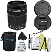 Canon EF-S 18-135mm IS STM Lens + Pixi-Basic Accessory Bundle (Frustration Free Packaging)