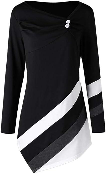Women Blouse Rakkiss Women Autumn Striped Tops Asymmtrical Tunic Winter  Tops Plus Size T-Shirts at Amazon Women s Clothing store  4f857d07e480