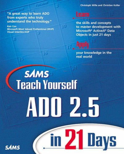 Sams Teach Yourself ADO 2.5 in 21 Days by Brand: Sams