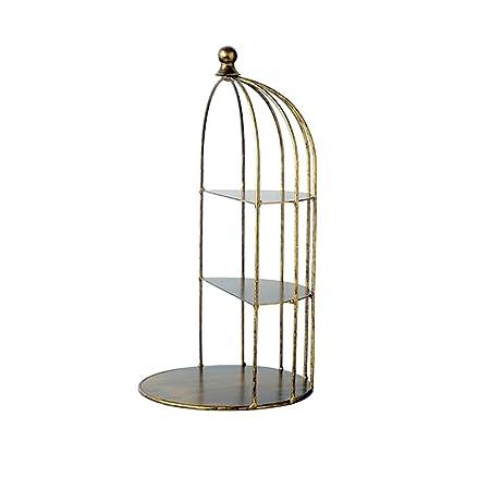 MZMM Decorativo pájaro Jaula decoración Hierro Medio Marco pájaro ...