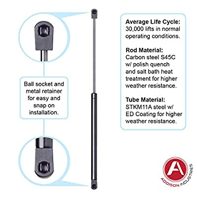 "Addison Top Quality 20 Inch (20"") Gas Spring, 60 LBS (267 Newton) Force Each, Set of 4, Gas Strut Gas Prop Gas Lift Support Lift Strut, Featuring Heavy Duty Extra Wide Diameter Tube 18 mm/Rod 8 mm: Automotive"