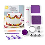 wilton cake cutter - Wilton How to Decorate with Fondant Shapes and Cut-Outs Kit - 14-Piece Cake Decorating Kit with 3 Fondant Cutouts, Fondant Shaping Set, Roller, Dusting Pouch, 6 Cutters, Video Tutorial