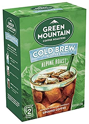 Cold Brew Coffee, Alpine Roast, Dark Roast Coffee, Coarse Ground, Makes 2-48oz. Pitchers of Real Cold Brew Coffee, Comes with 4 SteePack Coffee Filters