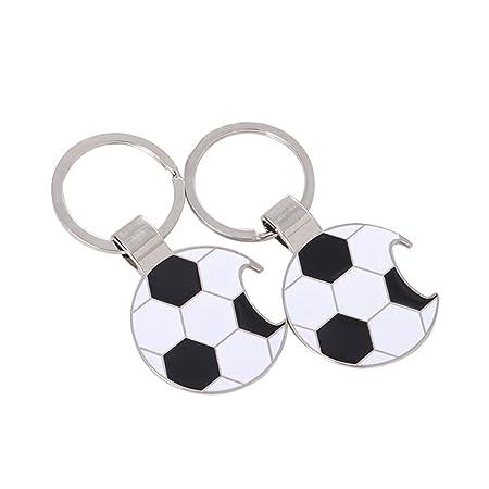 Llavero de Metal con Forma de balón de fútbol, con Colgante para ...