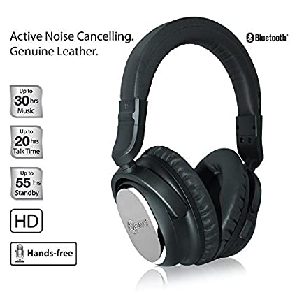 Naztech i9 inalámbrica activo cancelación de ruido auriculares con micrófono, Bluetooth 4.1, hasta 7