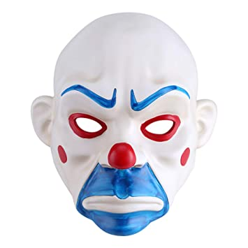 Amazon.com: Joker Bank Robber Mask Halloween Costume Resin Party Festival: Beauty