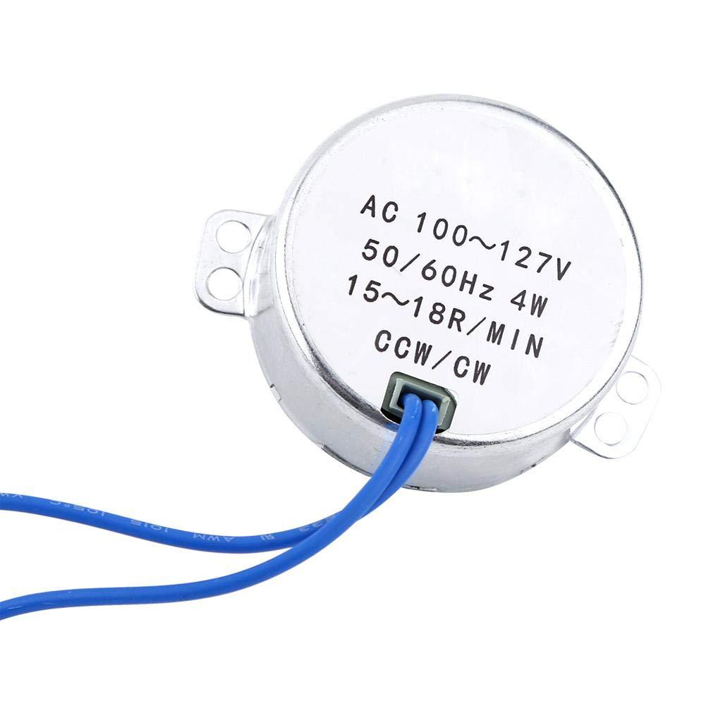 Acquisto Motore sincrono, AC 100-127V 50 / 60Hz 4W utilizzato per elettroventilatore Meccanismo di ventilazione, riscaldatore, mensola, artigianato, lampade, illuminazione, giocattoli(15-18RPM) Prezzi offerte