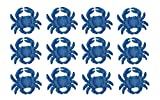 Cast Iron Drawer Pulls Set of 12 Distressed Finish Coastal Blue Cast Iron Crab Drawer Pulls 2.75 X 2.25 X 1 Inches Blue
