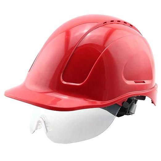ZHOU.D.1 Gafas de Seguridad Casco de Seguridad-Casco ABS ...