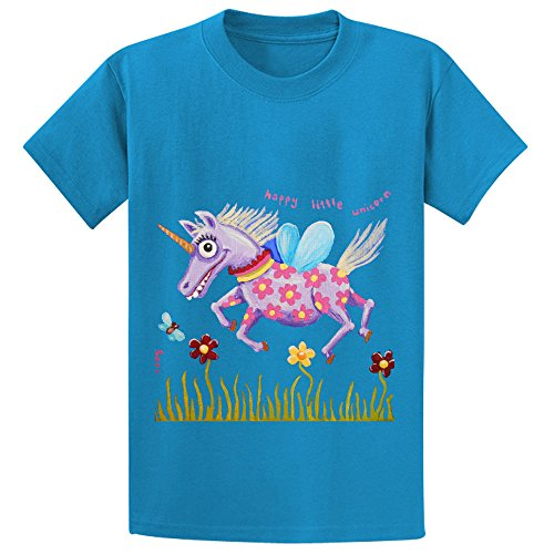 eva-happy-little-unicorn-unisex-crew-neck-graphic-t-shirt-blue
