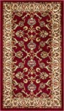 """Well Woven Barclay Sarouk Red Traditional Area Rug 2'3″ X 3'11"""" For Sale"""