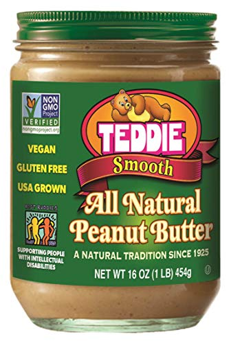 (Teddie All Natural Peanut Butter, Smooth, 16-Ounce Jar (Pack of 4))