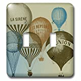 3dRose lsp_178940_2 Vintage French Hot Air Balloons Toggle Switch