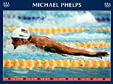 Michael Phelps Swimming World Record Times Olympics Poster 18 x 24in
