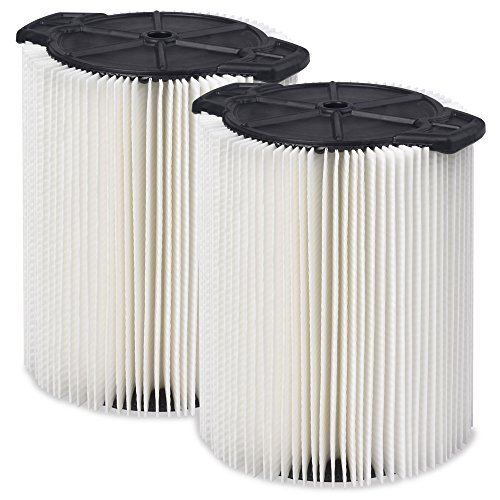 WORKSHOP Wet Dry Vac Filters WS21200F2 Standard Wet Dry Vacuum Filters (- Shop Vacuum Filters) For WORKSHOP 5-Gallon To 16-Gallon Shop Vacuum Cleaners by WORKSHOP Wet/Dry Vacs