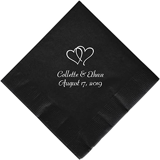150 PERSONALIZED BEVERAGE cocktail NAPKINS processed in 24 hours