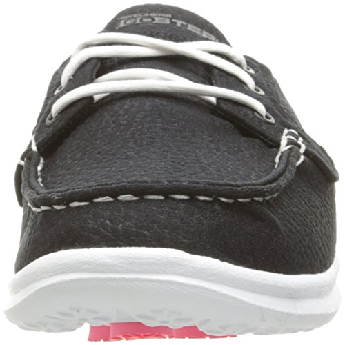 Femme Bateau Chaussures Taupe Step Blanc Noir Go Riptide Skechers RqnzFHz