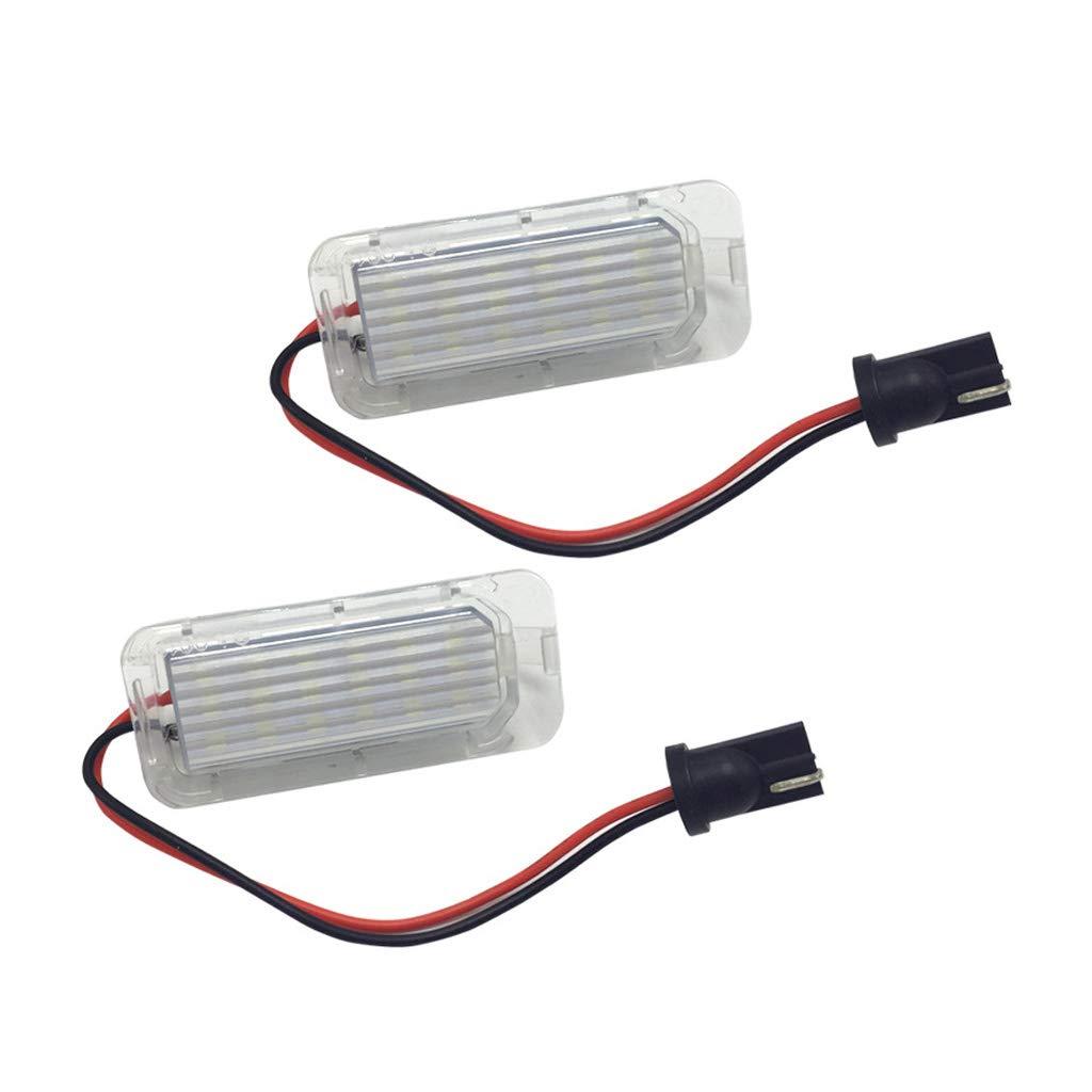 luce bianca allo xeno ad alta potenza senza errori 6000 K 1 paio di luci LED per targa impermeabili Flowerpei