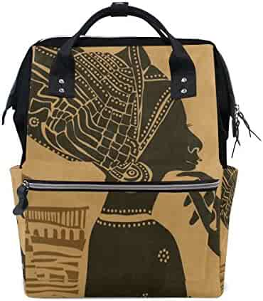 84032ca8c2 Diaper Bags Backpack Purse Mummy Backpack Nappy Bag Cool Cute Travel Backpack  Laptop Backpack with African