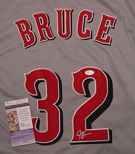 Jay Bruce Cincinnati Reds Autographed Grey #32 Jersey JSA COA