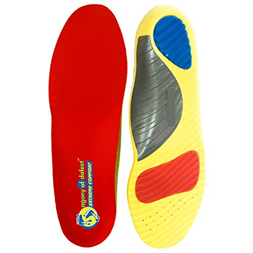Agony of DaFeet Athletic Shoe Inserts & Work Boot Shoe Sports Insoles | Orthotic Metatarsal Plantar Fasciitis Insoles & Flat Feet Arch Support Shoe Insert | Men 6-8 / Women 7-9 (S)