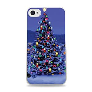 Christmas Tree White 2-in-1 Protective Case with Silicone Insert for Apple iPhone 4 / 4S