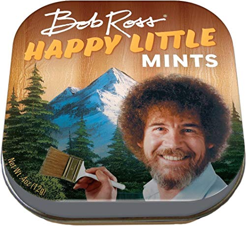 The Unemployed Philosophers Guild Bob Ross Happy Little Mints – 1 Small Tin 1.75 x 1.75