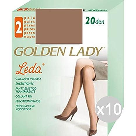 cheap for discount ff887 ac4e6 Set 10 GOLDEN LADY Leda 3 Daino 2 Paia Calze Collant Da ...
